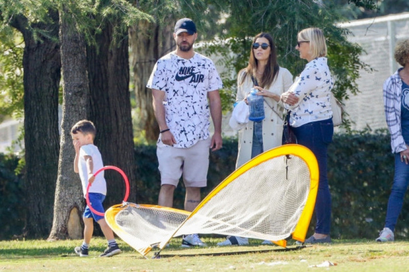 *EXCLUSIVE* Justin Timberlake and Jessica Biel take their son Silas to the park in LA