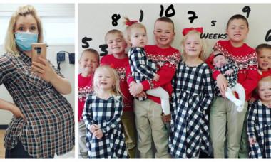 O femeie a născut al 11-lea copil și vrea să rămână din nou însărcinată. Rareori a fost văzută fără burtică sau bebe în ultimii 13 ani