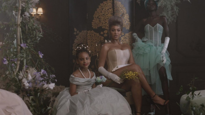 "Beyonce and Jay Z's oldest daughter, Blue Ivy Carter age 9 wins her first Grammy for her role in the music video for ""Brown Skin Girl"""