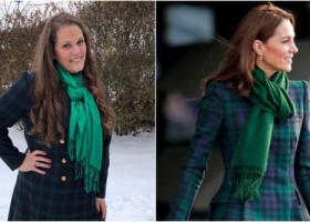 O femeie se îmbracă numai în haine inspirate de garderoba lui Kate Middleton. Asemănarea este impresionantă