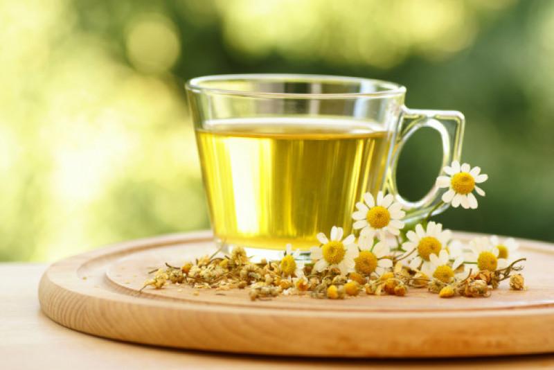 Fresh chamomile tea