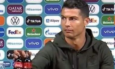 """UEFA reactioneaza in """"scandalul sticlelor mutate"""" declansat de Ronaldo. Se pune presiune pe fotbalistii de la Euro 2020"""