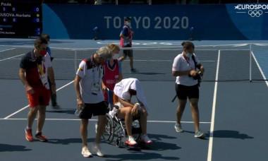 Jocurile Olimpice, imagini sfâșietoare cu noua Șarapova: a ieșit de pe teren în scaun cu rotile. Acuze dure pentru organizatori