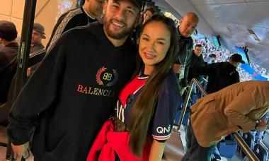 Neymar a pus ochii pe o vedetă din România. Femeia, în culmea fericirii după ce s-a îmbrățisat cu fotbalistul! Imagini de colecție