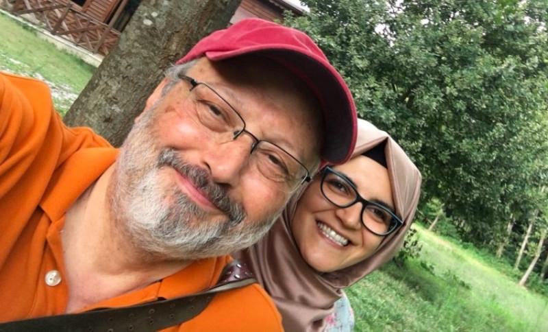 Jurnalistul saudit dispărut, Jamal Khashoggi, împreună cu logodnica sa